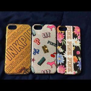 (3) Victoria's Secret PINK iPhone 6,6s phone cases
